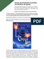 Símbolo Satânico Do Pentáculo Invertido É Utilizado Em Boletim de Igreja