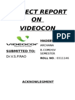 Videocon Project Report