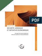 Rapport « Sécurité juridique et initiative économique »