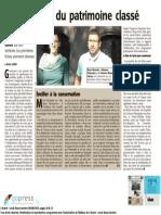 l'Avenir - Patrimoine - 10.06.15