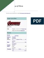 Avengers. Era de Ultrón (2015)
