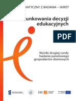 Raport Uwarunkowania Decyzji Edukacyjnych