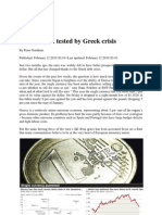 Euro Project Tested by Greek Crisis