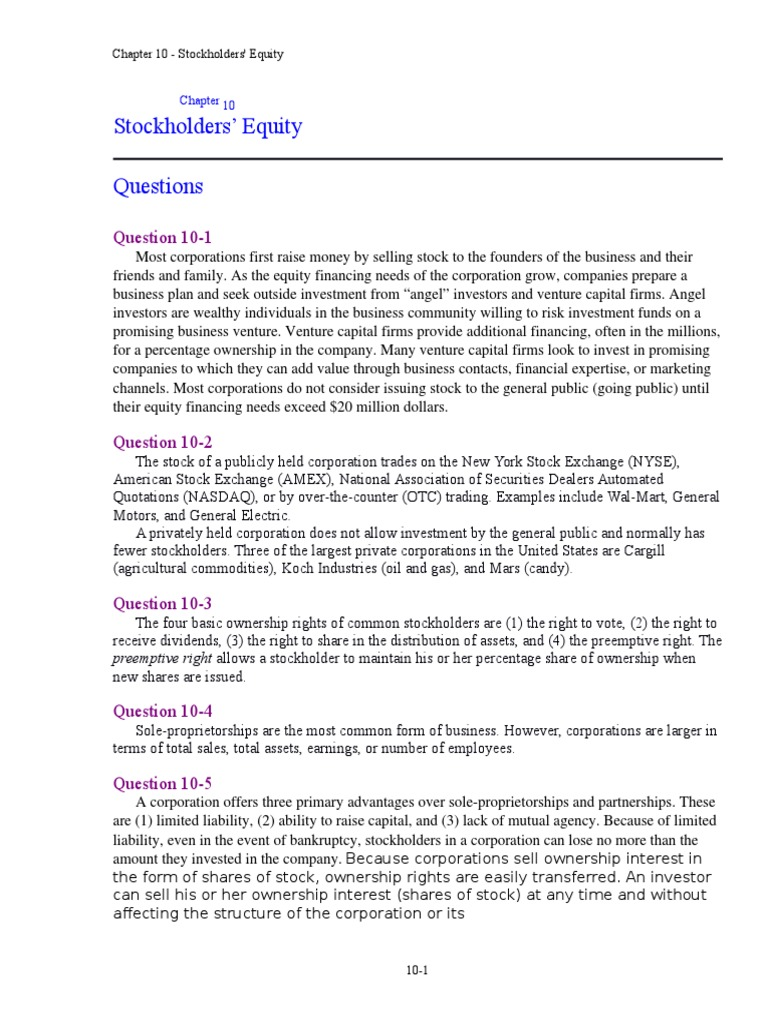 accounting chapter solutions guide equity finance accounting chapter 10 solutions guide equity finance shareholders