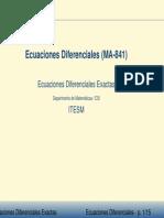 ecuaciones direrenciales exactas