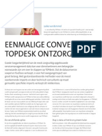 Eenmalige conversie TOPdesk ontzorgt