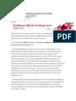 Reprezentarea Părților În Procesul Civil În Reglementarea NCPC