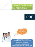Home Care and Family Physician
