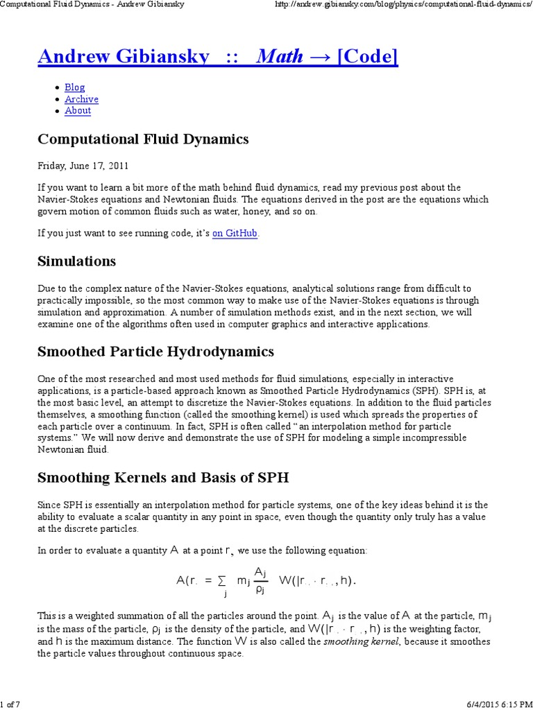 Fluid Dynamics | Navier–Stokes Equations | Computational Fluid Dynamics