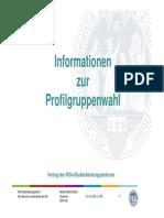 Informationen Zur Profilgruppenwahl
