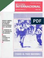 Revista Internacional-Nuestra Época, Edición Chilena, Abril de 1985