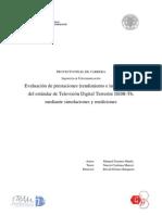 Evaluación de Prestaciones (rendimiento e interferencias) estándar ISDB-Tb