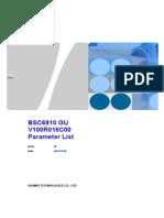 BSC6910 GU V100R016C00SPC650 Parameter Reference