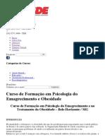 Curso de Formação Em Psicologia Do Emagrecimento e Obesidade _ CESDE - Centro de Estudos e Desenvolvimento Educacional