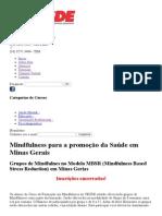 Mindfulness Para a Promoção Da Saúde Em Minas Gerais _ CESDE - Centro de Estudos e Desenvolvimento Educacional