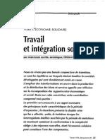 Travail Et Intégration Sociale