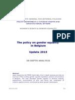 Gender Policy Paper Belgium 2015