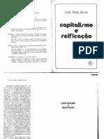 Capitalismo e Reificação - José Paulo Netto
