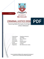 Examining Media Portrayals of and Approaches to Cybercrimes in Botswana