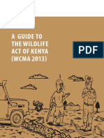 Guide to Wildlife ACT of Kenya 2013
