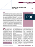Position of the Academy of Nutrition and Dietetics