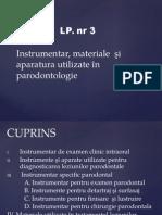 Instrumentar folosit in parodontologie