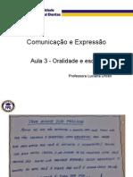 Aula3-Oralidade e Escrita
