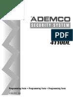 ADEMCO 4110DL ( Instalador )