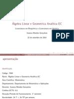 Algebra Linear e geometria analítica