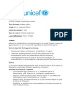 Publication Avis de Vacance U-Report Officer NO a