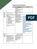 Cronograma de Actividades Sesión 1