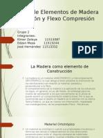 Diseño de Elementos de Madera a Flexion y a Flexo Compresion