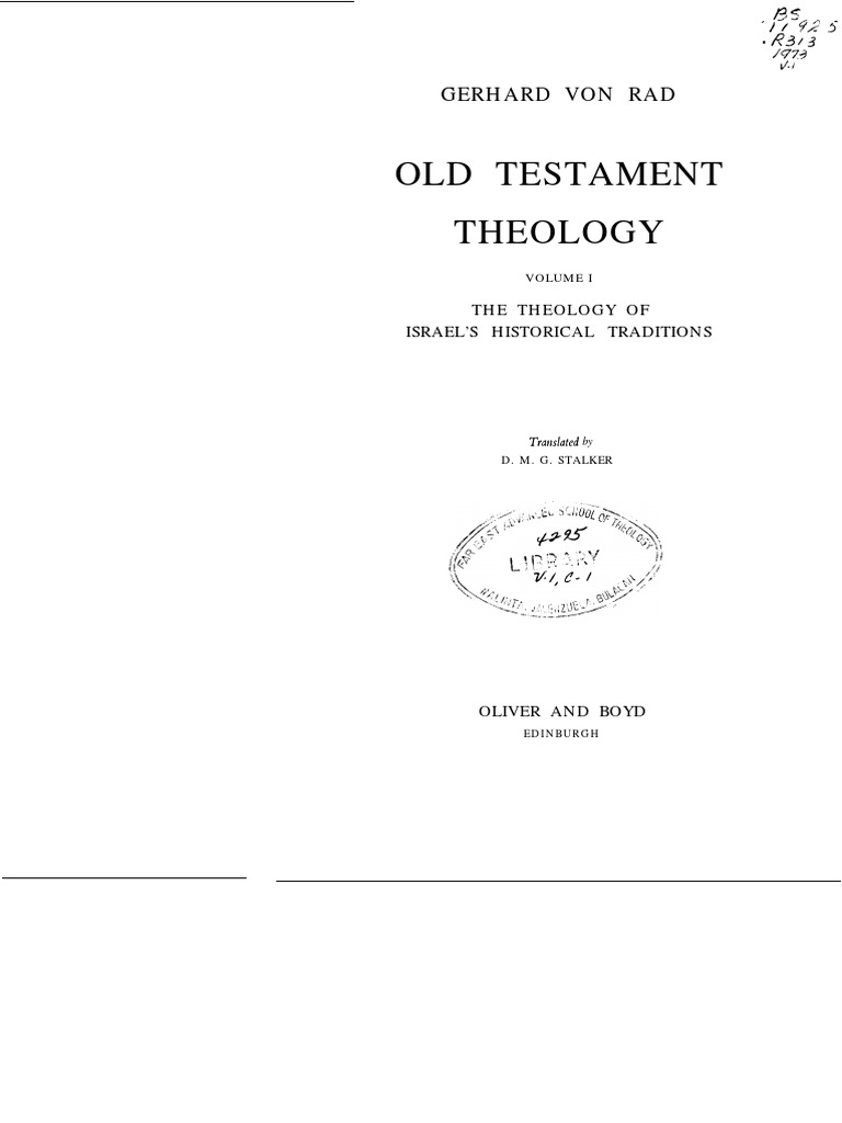 00049 Rad Von Ot Theology Vol 1 Yahweh Book Of Genesis Kingdom Heart Hd 28 Final Chapter Prologue R3