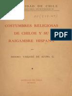Costumbres Religiosas de Chiloe y Su Raigambre Hispana, Isidoro Vazquez de Acuña