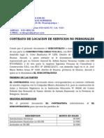 Subcontrato de Locacion de Servicios No Personales - Diegos