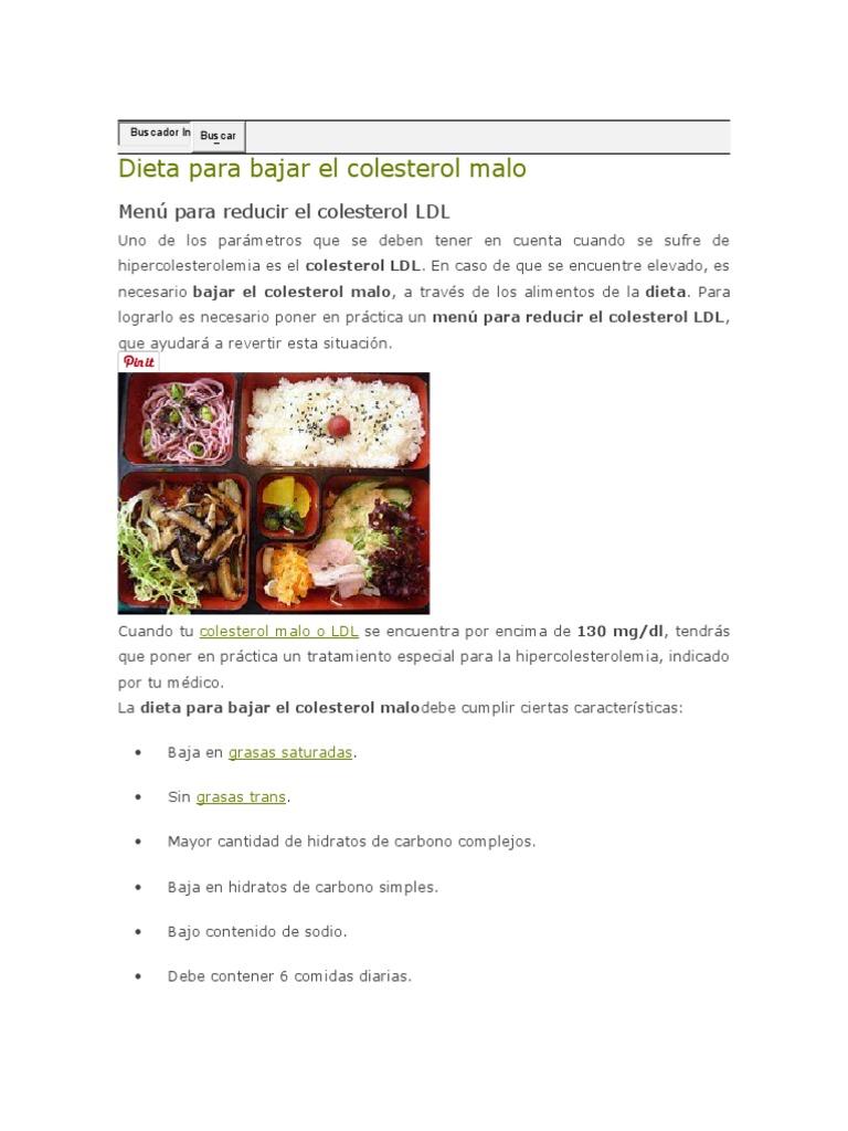Dieta para bajar el colesterol malo - Alimentos beneficiosos para el colesterol ...