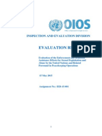 "UN Peacekeepers' Sexual Abuse Detailed in Pre-Release ""Evaluation of the Enforcement and Remedial Assistance Efforts for Sexual Exploitation and Abuse by the United Nations and Related Personnel in Peacekeeping Operations"""
