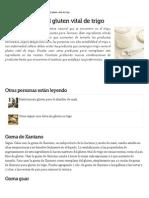 Sustitutos Para El Gluten Vital de Trigo _ EHow en Español
