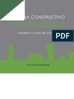 Sistema Constructivo Sostenibe Madera Mas Lodo de Celulosa