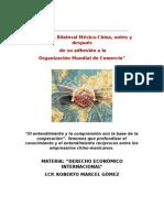 Relaciones de Adhesion Entre China y Mexico, (Der. Econ. Int. Sexto b)
