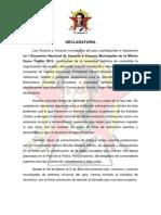 DECLARATORIA y Documento Final Trujillo 2015