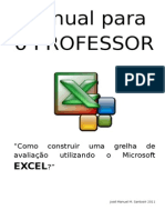 Manual para o Professor - construir grelha de avaliação no excel
