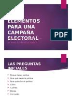 Elementos Para Una Campaña Electoral