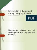 Integración Del Equipo de Trabajo Del Proyecto De