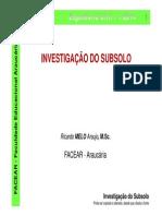 6 - FACEAR - GE - Investigação Do Subsolo