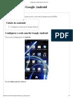 Configurando o Google Android - Wiki CTIC
