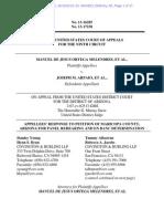 Melendres Appeal 13-16285 #85 - Plaintiffs Response to MC Mot for Reconsideration