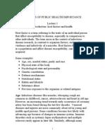 Lecture 1 Host Fators & Health