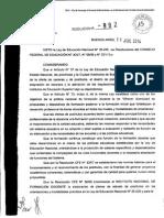 Res 892-14 - Aprobacion Plan Estudios Primaria y TIC