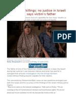 Gaza Beach Killings No Justice in Israeli Exoneration, Says Victim's Father